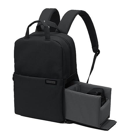 Beaspire Multifunción Profesional Mochila Bolsa Impermeable para Cámara Réflex DSLR de Viajes para Nikon Canon Sony