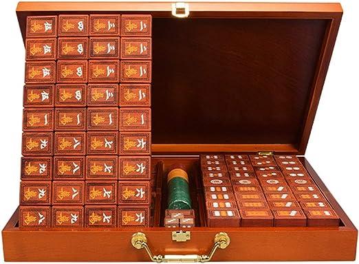 Mah Jong Mahjong de Madera Maciza Juegos de Mesa Familiares ...