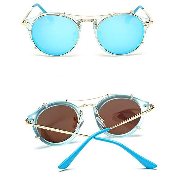 Unisex Moda Retro Al Aire Libre AC Lente UV400 Aviador Gafas De Sol Gafas, Azul: Amazon.es: Ropa y accesorios