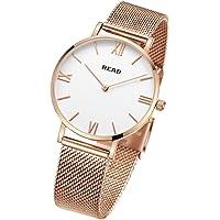 READ Reloj para Mujer, Reloj de Cuarzo, Marca de fábrica Superior, Relojes de Pulsera ultrafinos