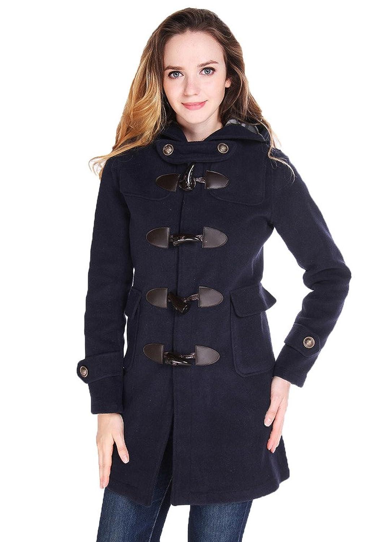 Tortor 1bacha Women Hooded Toggle Jacket Duffle Coat Outerwear