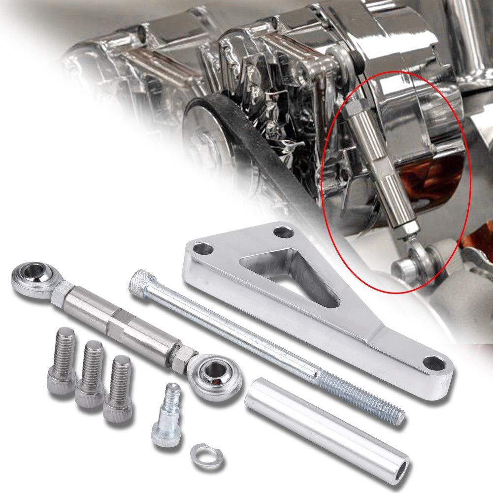Long Water Pump Lwp Aluminum Alternator Mounting Kit Polished for Chevy SBC 350 Alternator Bracket Kit