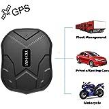 Gps tracker voiture TKMARS Traceur GPS avec aimant puissant 3 mois veille en temps réel GPS/GPRS/GSM Tracker Antivol pour véhicule Autos moto camion traceur traqueur localisateur GPS