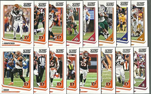 2018 Panini Score Football Cincinnati Bengals Team Set 16 Cards W/Drafted Rookies - Card Bengals
