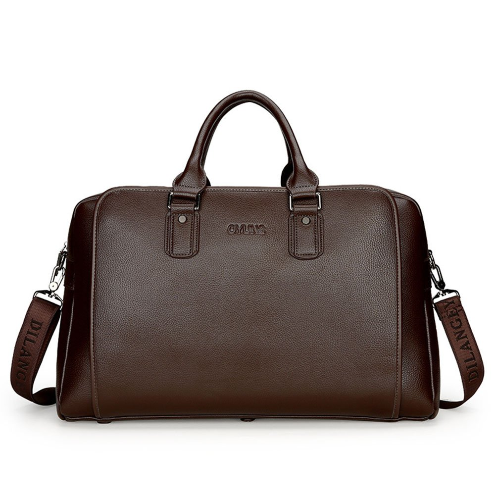 Yangjiaxuan Men Imitation Leather High Capacity Handbag Business Travel Bag Briefcase Short Trips Luggage (Color : Brown)