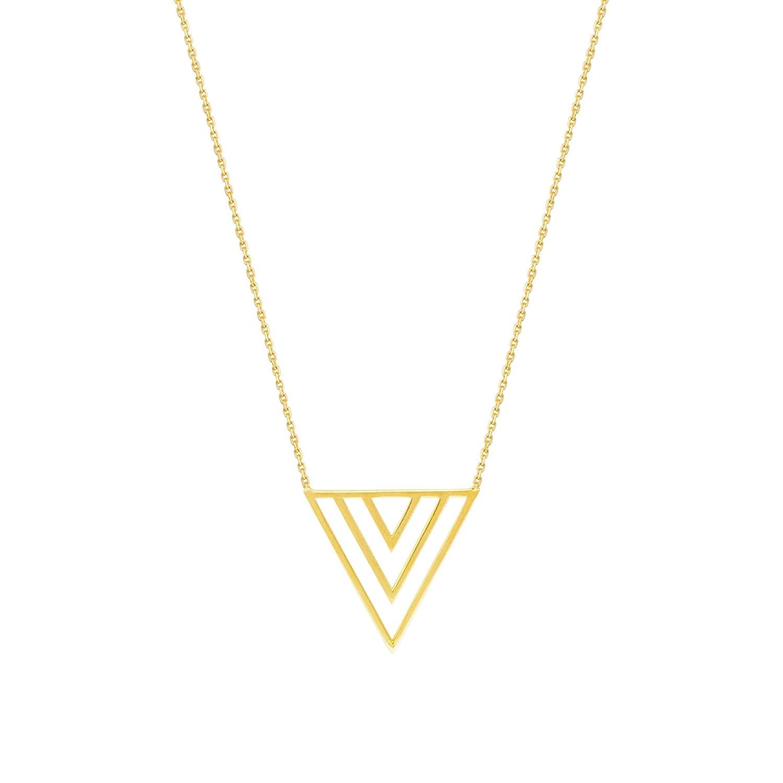 V Necklace Necklace 14Kt GoldV 18 Inches