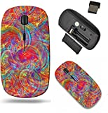 Liili Wireless Mouse Travel 2.4G Wireless Mice with USB Receiver, Click with 1000 DPI for notebook, pc, laptop, computer, mac book Abstract fractal background best viewed many details when at full siz