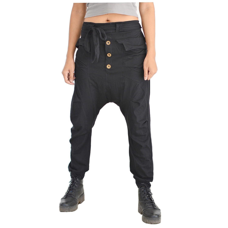 Siamrose Harem Pants Men Women Baggy Pants Drop Crotch Pants Yoga Pants ( Black) at Amazon Women s Clothing store  f19468a15a7