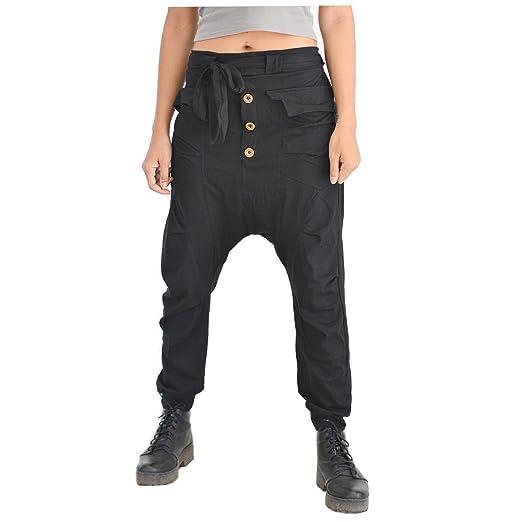 Siamrose Harem Pants Men Women Baggy Pants Drop Crotch Pants Yoga Pants ( Black) daaa183e1f4