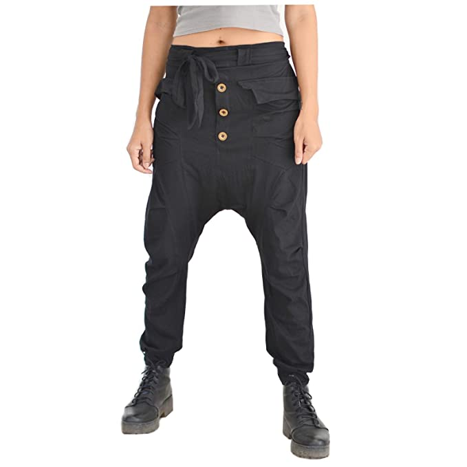 Amazon.com: siamrose pantalones Harem hombres mujeres Baggy ...