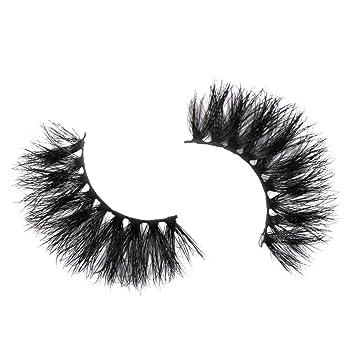 a29df03ac1a Amazon.com : NewKelly Beauty Handmade 3D Mink Dramatic False Eyelash 25mm  Makeup With Long Eyelash False Eyelashes (F) : Beauty