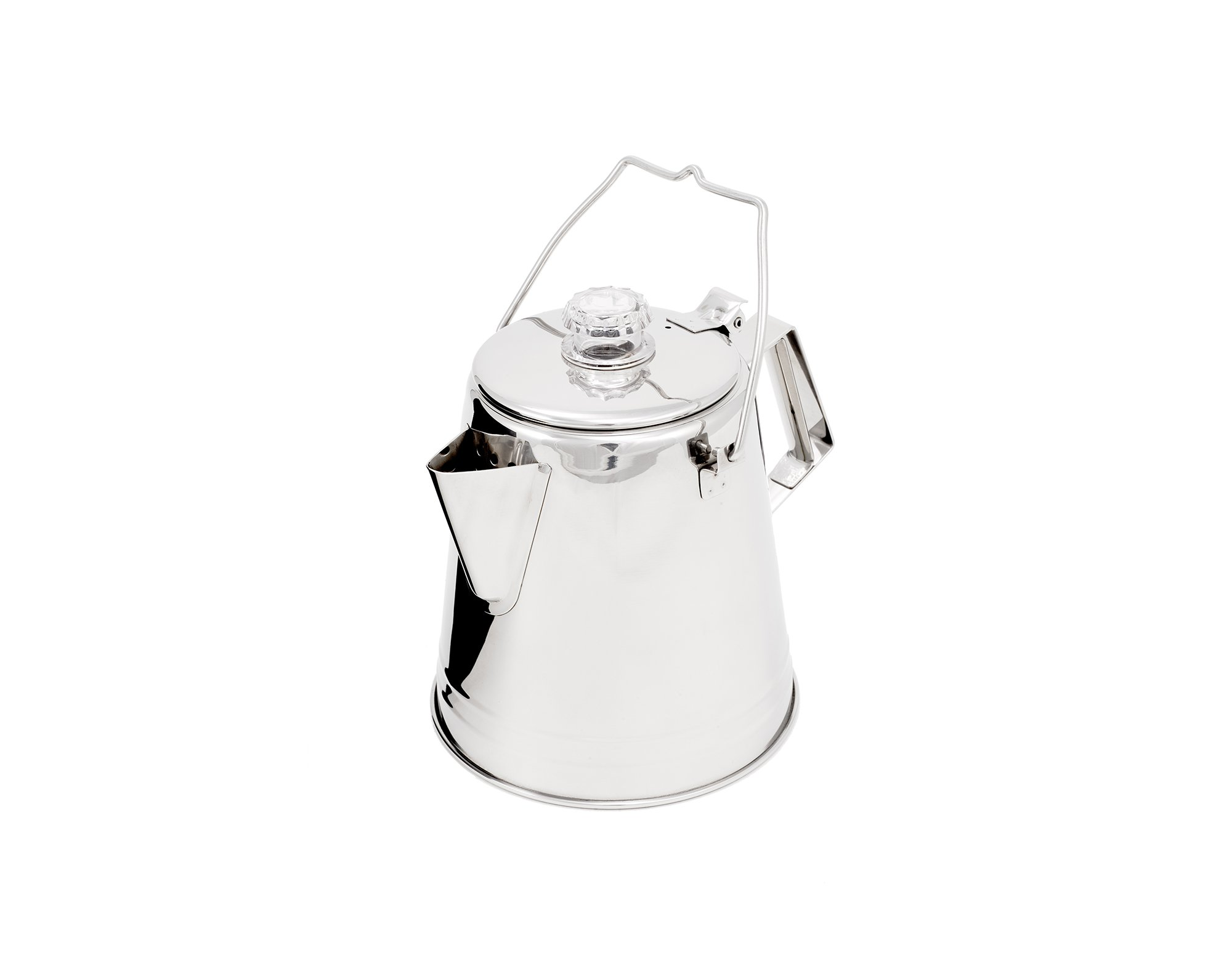 GSI Outdoors Glacier Stainless Steel 8 Cup Percolator Ultra-Rugged for Brewing Coffee While Camping with Groups by GSI Outdoors