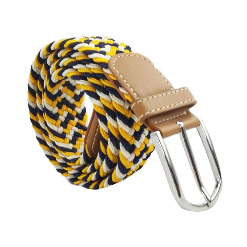 Braided Canvas Belt//Elastic Fabric Woven Stretch Waist Band 39.5 for Men Women