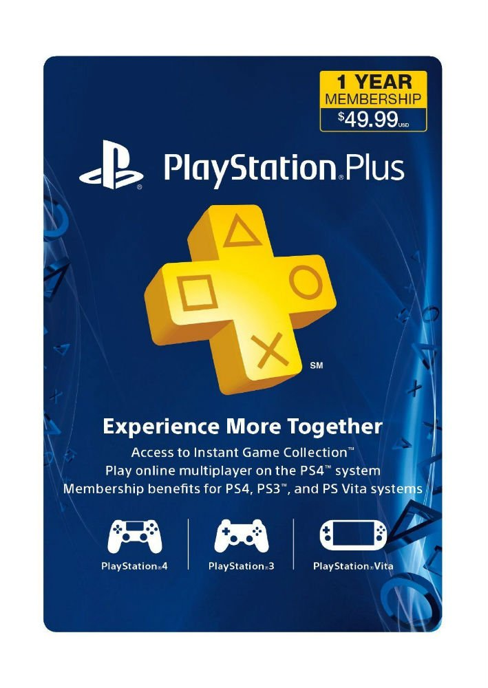 Playstation Plus 1 año (12 Mes) Gamecard PSN PS3 PS4 vitanew ...