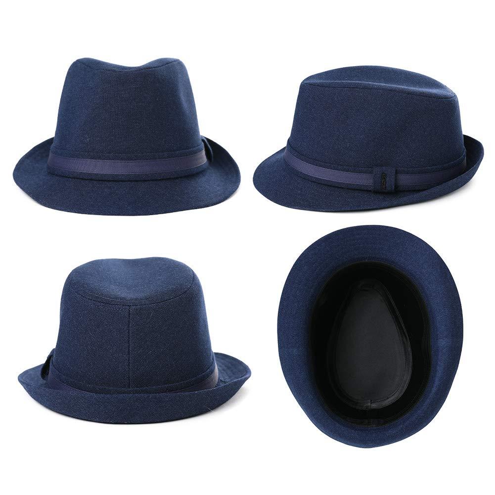 1920//1950 Wool Felt Homburg Gangster Fedora Manhattan Derby Hat Unisex 55-59CM