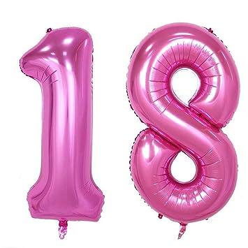Nuolux Zahl Luftballon 18 Geburtstag Luftballons Nummer Foil