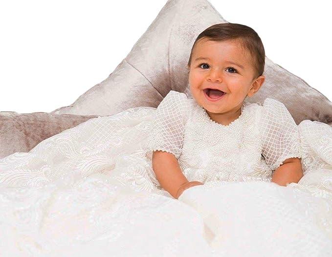 ShineGown - Ropa de Bautizo - para bebé niña Blanco Blanco 0-3 Meses e90f45622c79