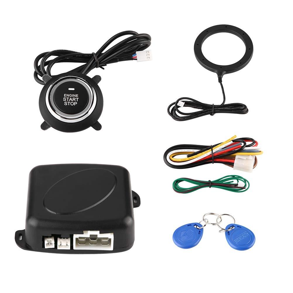 Gorgeri 12V Universal Car Alarm System Engine Starter Push Button Vehicles Start//Stop Kit Safe Lock Anti-theft Car Modification Set
