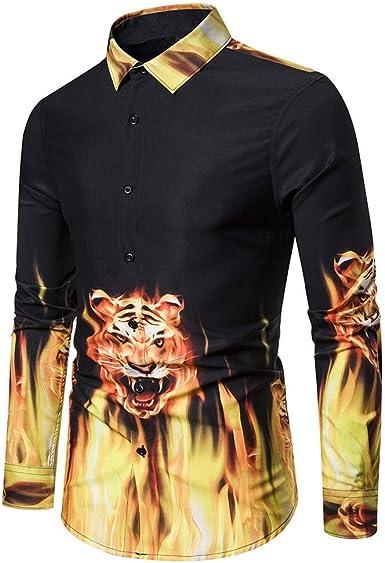 SPECIALOFFERKYZ - Camisa de manga larga para hombre, diseño ...