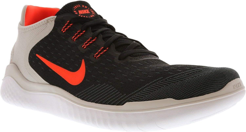 Nike Men s Free RN Flyknit 2018 Running Shoes 11 M US, Black Total Crimson-vast Grey-white