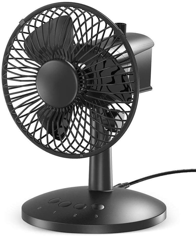 FANS Mini Ventilador oscilante, Mini portátil portátil pequeño ...
