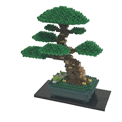 Nanoblock Bonsai Matsu Deluxe Edition Building Kit, Green: Toys & Games