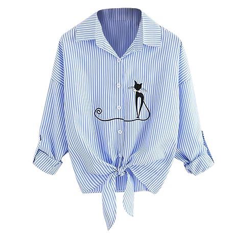 Camisas Mujer , ❤ Amlaiworld 2018 Nuevo Blusas para Mujer elegantes Sexy Camisa de dobladillo