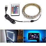 Vobome Luz de tira del RGB del contraluz de la televisión del USB LED con el control remoto de 24 llaves Tiras LED