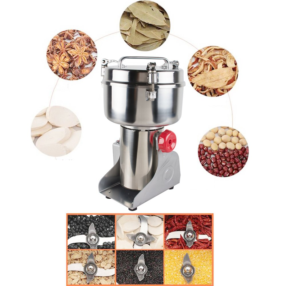 Zorvo 1000g Capacity Household Chinese Herbal Spice Medicine mill Grinder Electric Milling Machine 29000 r/min for Soybean Coffee etc Grain Herb Powder Cereal pulverizer by zorvo