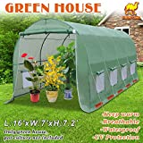 Strong Camel Hot Green House 16' X 7' X 7' H Larger Walk In Outdoor Plant Greenhouse