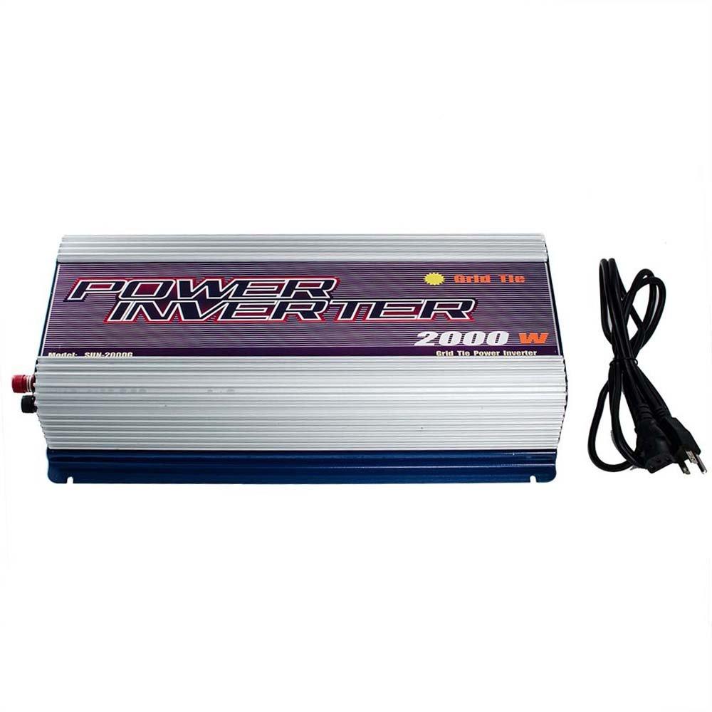 iMeshbean Solar 2000W LCD Display(Voltage, Current) MPPT Grid Tie Power Inverter Pure Sine Wave Stackable USA DC 45v-90v TO AC 230V