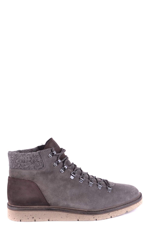- Hogan Men's MCBI33230 Grey Suede Hi Top Sneakers