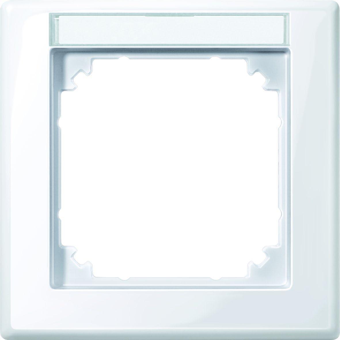 1fach mit Beschriftungstr/äger Merten 470125 M-SMART-Rahmen aktivwei/ß gl/änzend
