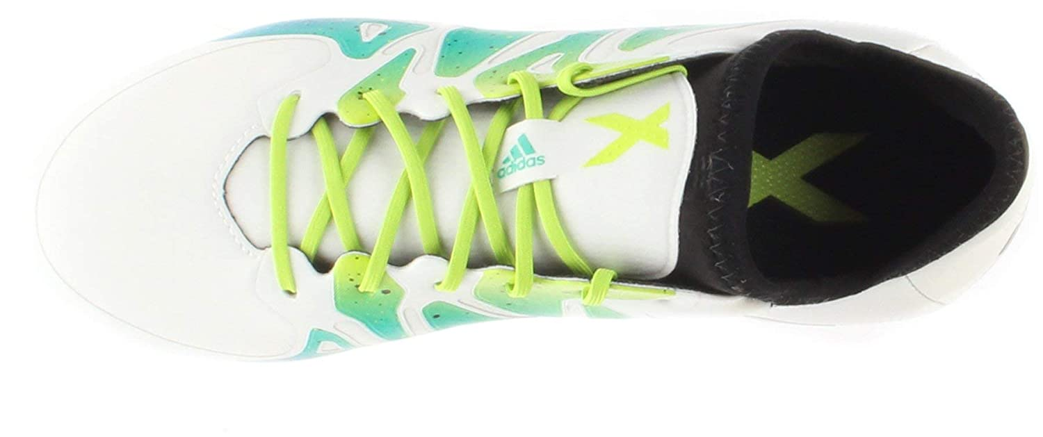 adidas Soccer Cleats Size 10.5 X 15.1 FG//AG Junior White//Green//Black