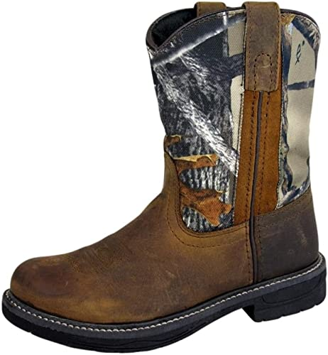 Western Cowboy  Leather Wellington Tuff Tred Smoky Mountain Boots YOUTH NEW