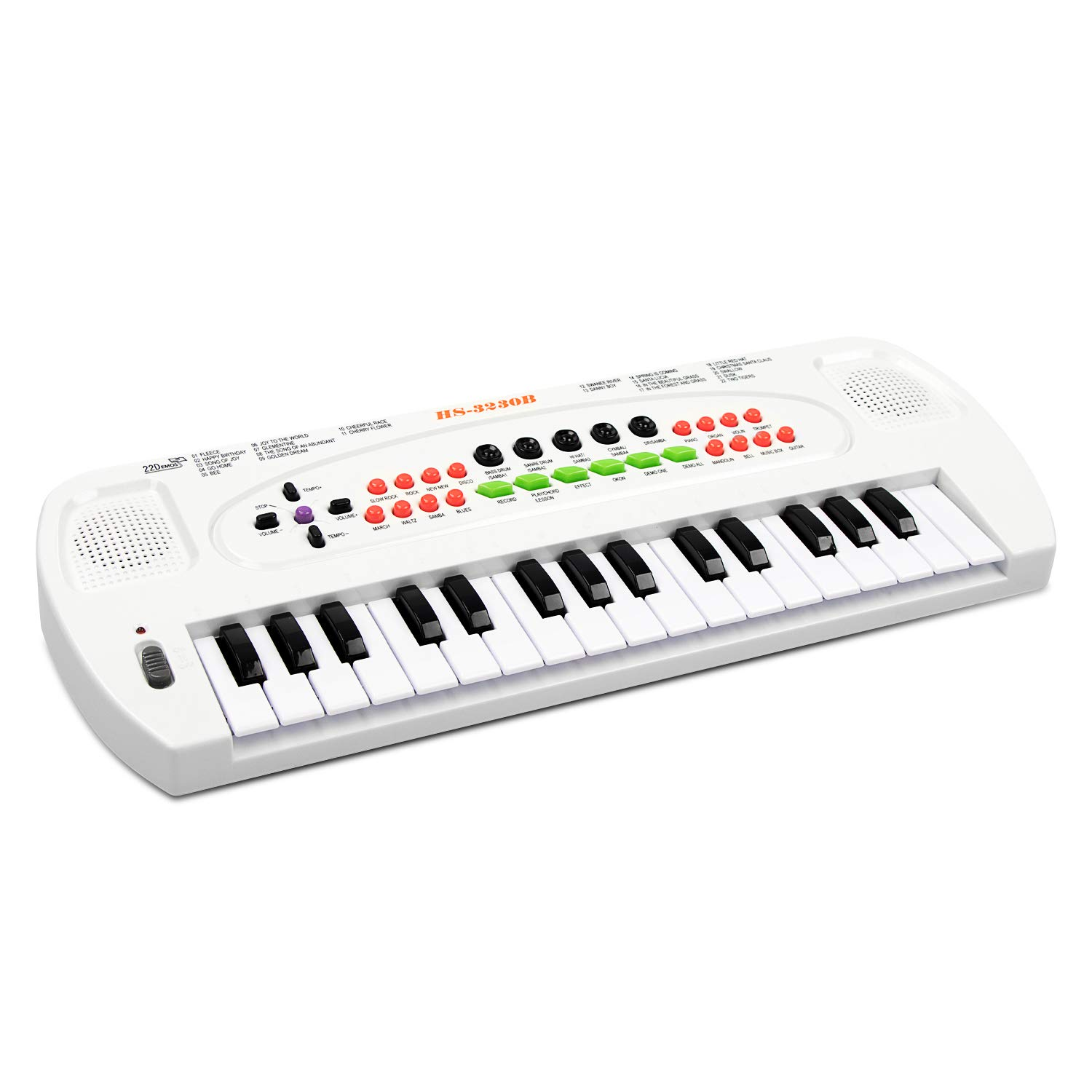 aPerfectLife Keyboard Piano Kids, 32 Keys Multifunction Electronic Kids Keyboard Piano Music Instrument for Toddler with Microphone (White) by aPerfectLife