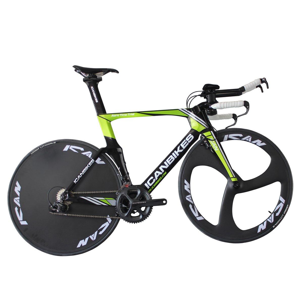 ICAN(アイカン) Arrow X フルカーボン 競輪バイクTT01 シマノUltegra 6800 トラックバイク 53.5/55.5/57.5cmサイズのタイムトライアルバイク B01AT2QLXI