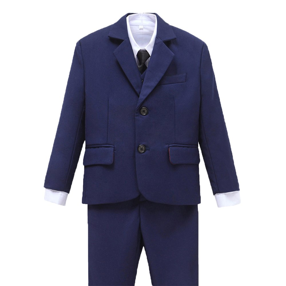 Yuanlu Kids Formal Tuxedo Boys Suits for First Communion with Tie Size 3T Blue