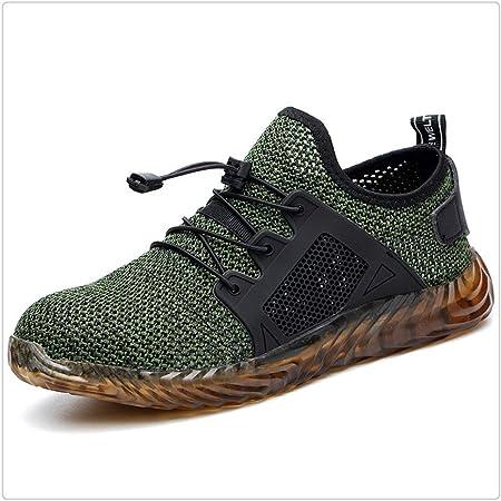 Jichuo Nueva zapatillas de tenis calza los zapatos de los hombres indestructibles unisex la zapatilla de deporte de malla a prueba de pinchazos ocasionales respirables de los zapatos de trabajo Deport: Amazon.es: