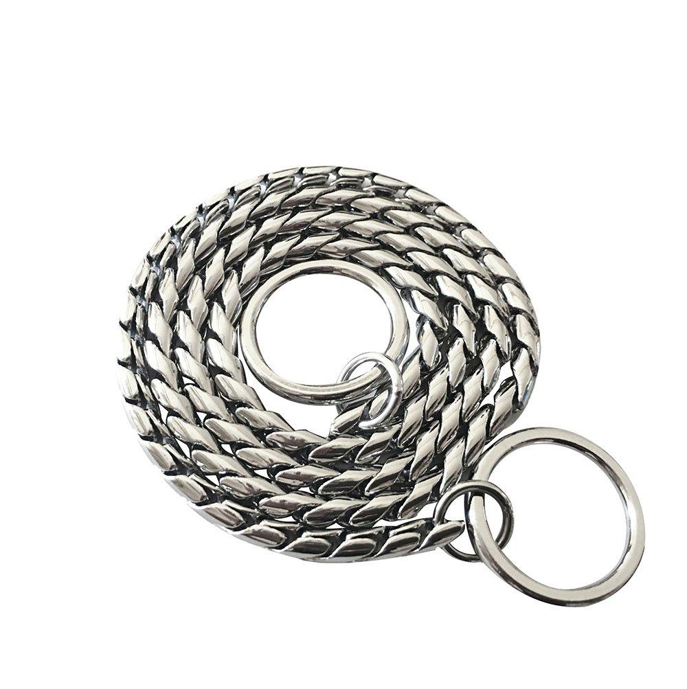 DYBEN Pet Training Snake P Chain Dog Choke Collar (18'', Silver)