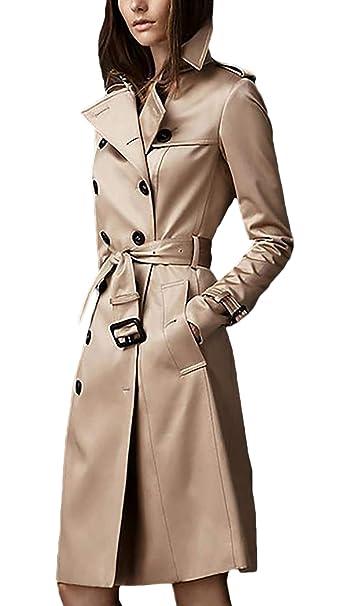 Gabardina Mujer Largos Fashion Classic Doble Botonadura Abrigos Primavera  Otoño Manga Larga De Solapa Slim Fit Ropa Vintage Elegantes Negocios  Outerwear ... 9da4bd715658