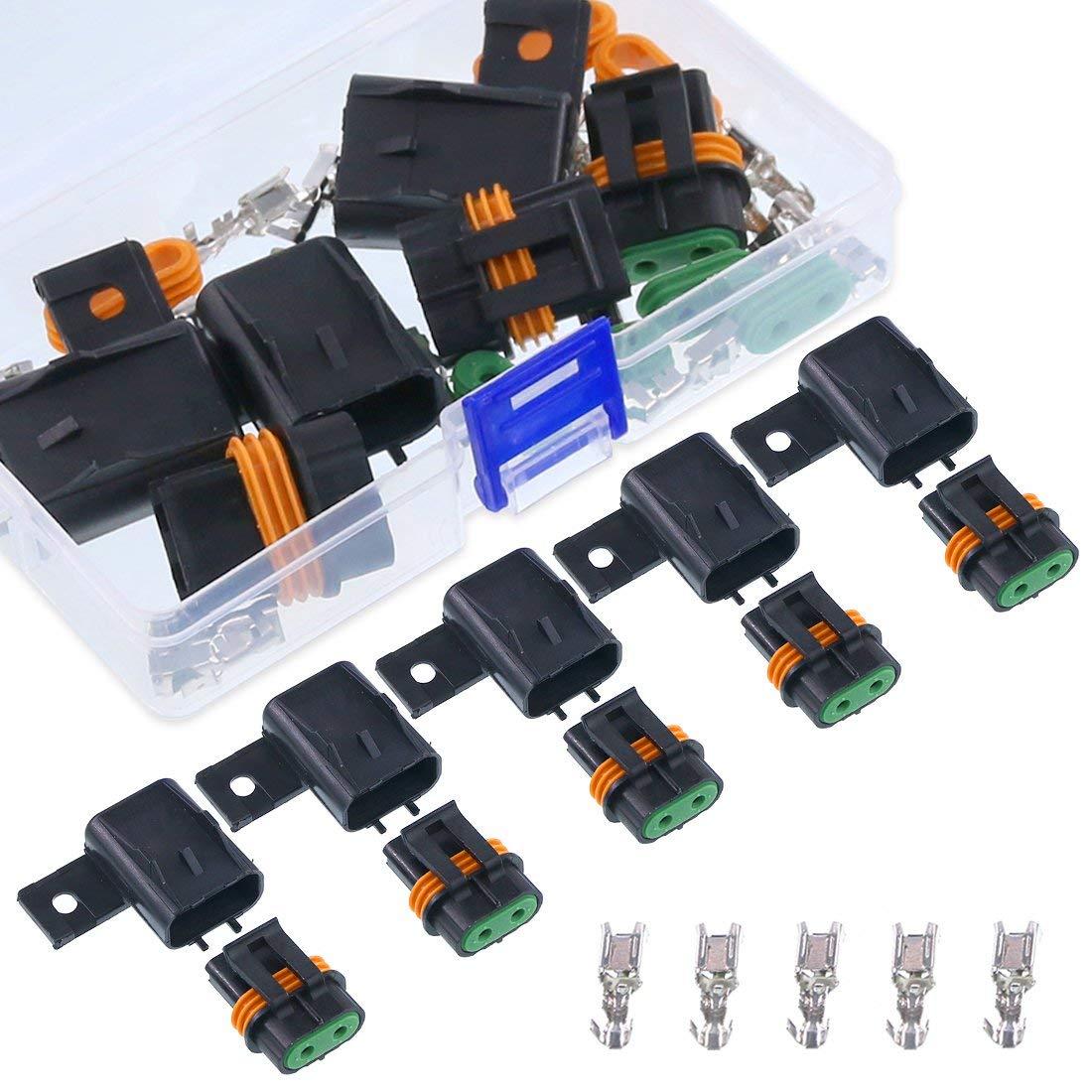 6 9 broches Kit de raccordement automobile de 580 pi/èces connecteurs de fils /électriques de voiture /à sertir et bornes de c/âble femelle et connecteur m/âle//femelle 2 3 4 2,8 mm