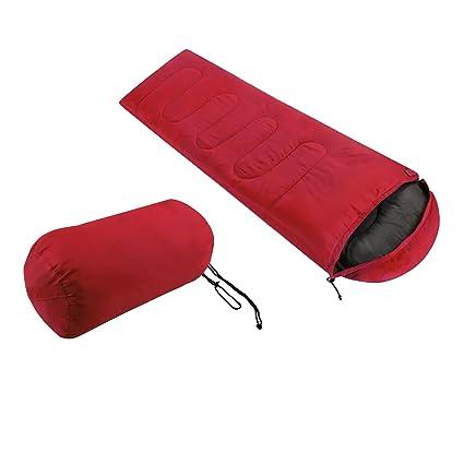 Saco de Dormir con Cremallera, Portable y Impermeable para Camping Al Aire Libre (Rojo