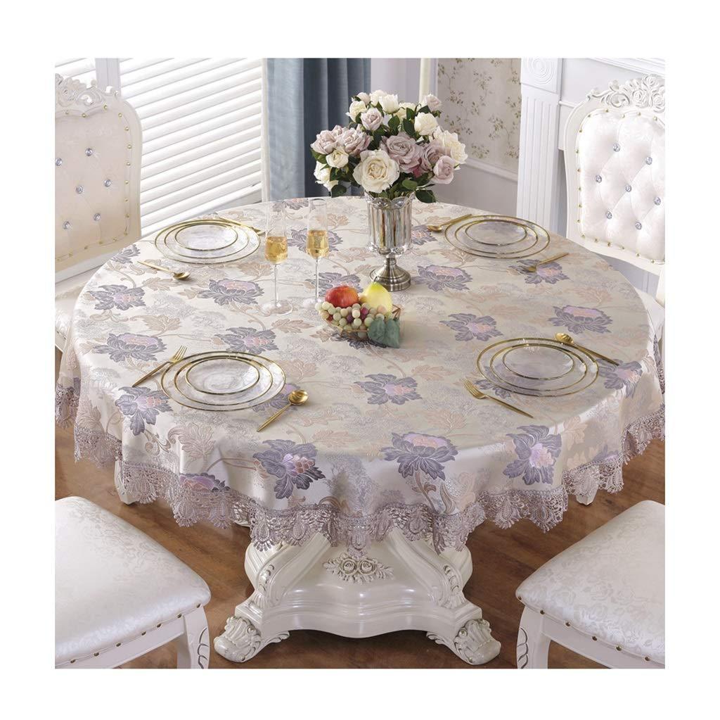 ラウンドテーブルクロス 円形のテーブルクロス家庭用宴会パーティーを拭くのは簡単テーブルクロス豪華なレストランの装飾テーブルクロス テーブルクロス (サイズ さいず : Round-240cm) Round-240cm  B07RXSNZSJ