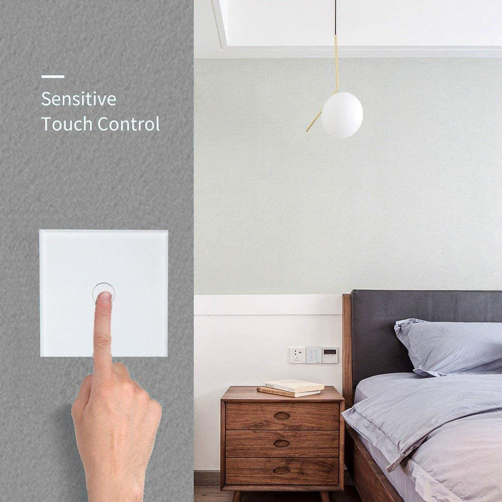 WiFi Smart Light Dimmer Switch Touch Light Remote Control-White Gang 1