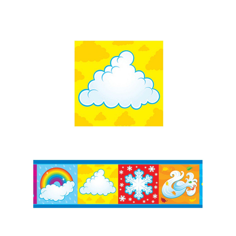 "Trend Enterprises What's The Weather? Bolder Borders (11 Piece), 2-3/4"" x 429""/35.75'"