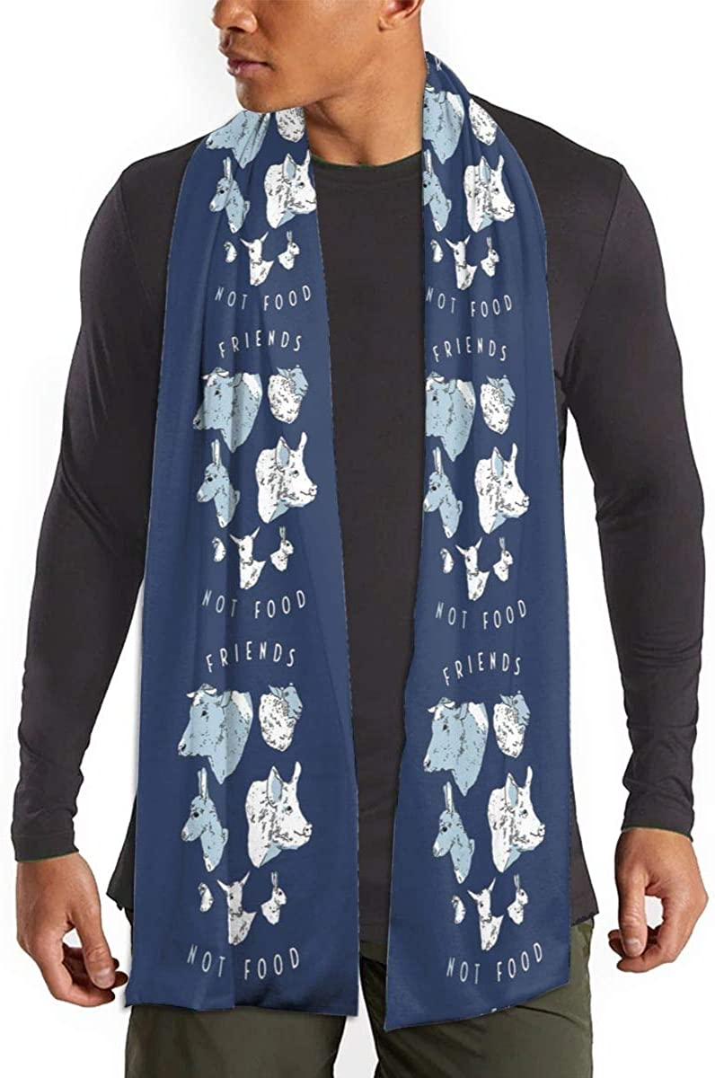Friends Not Food Scarf Fashion Long Scarves - Scarves For Winter