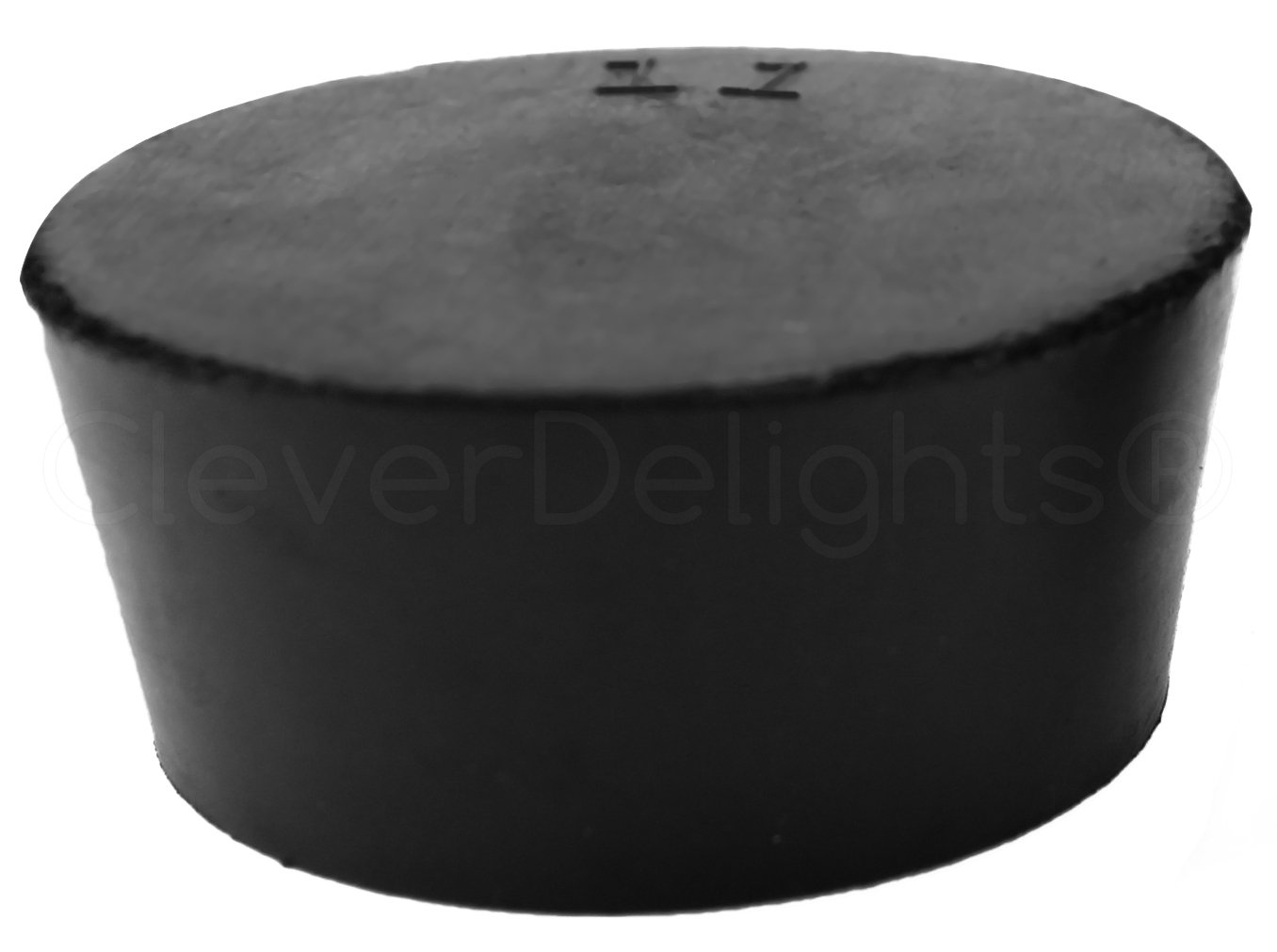 3 Pack - CleverDelights Solid Rubber Stoppers - Size 11-56mm x 46mm - 34mm Long - Black Laboratory Plug #11 by CleverDelights