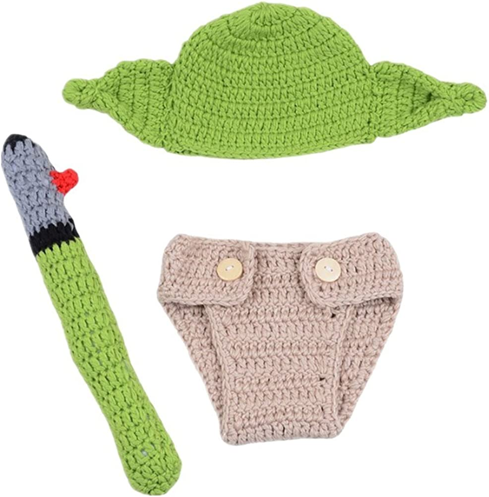 Fashion Newborn Boy Girl Baby Christmas Photography Props Hat Pants Costume Knitted Outfits