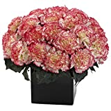 Nearly Natural 1372-CP Carnation Arrangement, Cream Pink